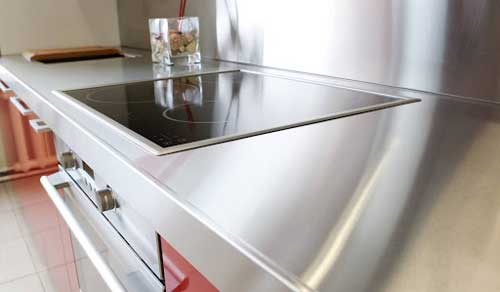 Cleaning stainless steel countertop